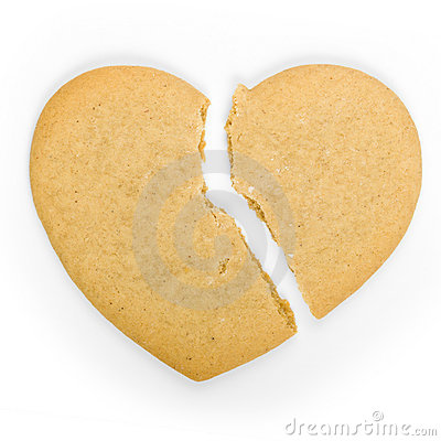 Free Broken Heart Cookie Stock Photography - 7468212