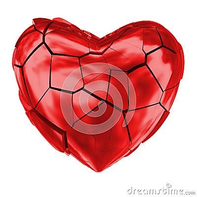 Free Broken Heart Glossy Red Symbol Royalty Free Stock Photos - 50490258