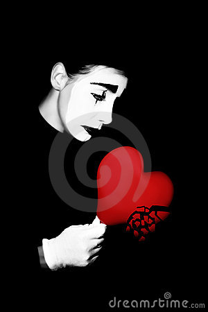 Broken heart mime