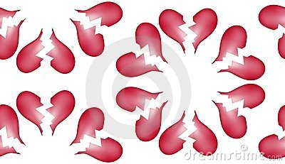 Broken Heart Seamless Tile Pattern Background 7