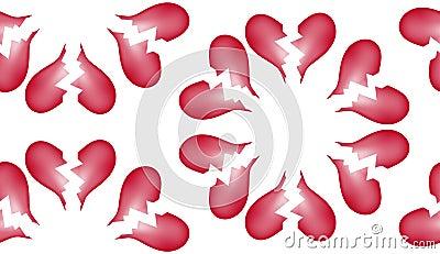 Broken Heart Seamless Tile Pattern Background 7
