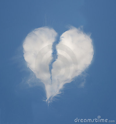 Credit Cards For Bad Credit >> Broken Heart Shaped Cloud Royalty Free Stock Photos ...