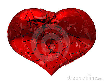 Broken Heart - unrequited love, death or pain