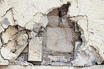 Broken heat insulation