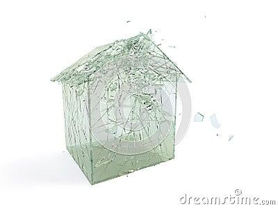 Broken house.