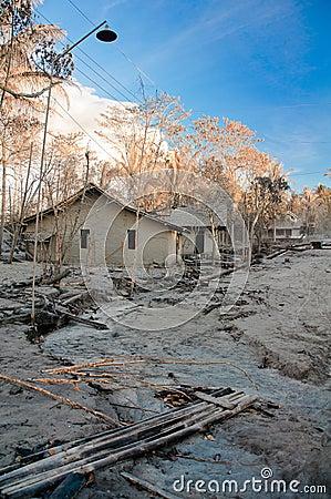 Broken house and settlement