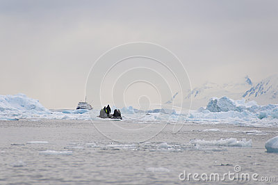 Broken ice and boat