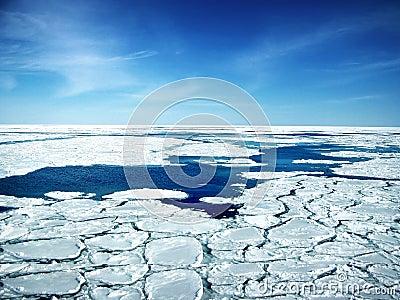 Broken Ice In Sea