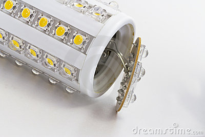 Broken LED bulb with E27