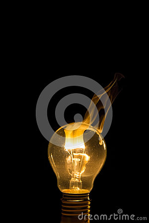how to smoke out of a light bulb broken light bulb burn out with royalty free stock 555