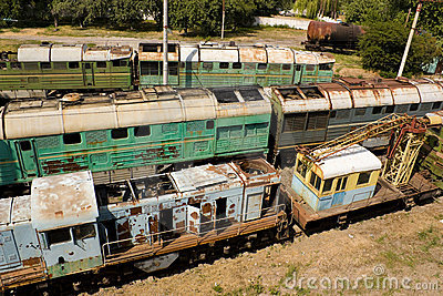 Broken locomotives