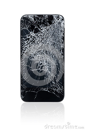Free Broken Mobile Phone Royalty Free Stock Images - 29237969