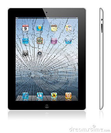 Free Broken New Apple IPad 3 Stock Photography - 23820342