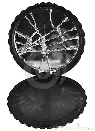 Stock Photography: Broken Old Make Up Mirror. Image: 22286052