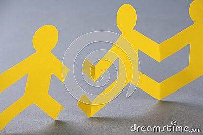 Broken Paper People Chain