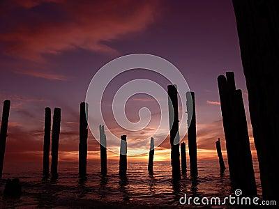 Broken Pier Sunset