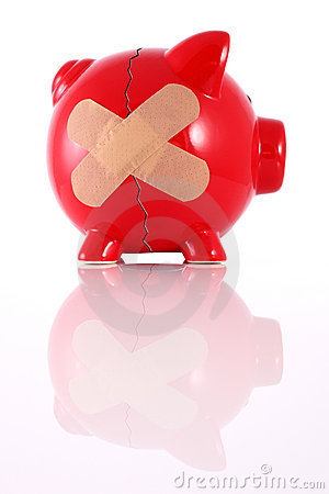 Broken Piggy Bank Stock Photography - Image: 9349442