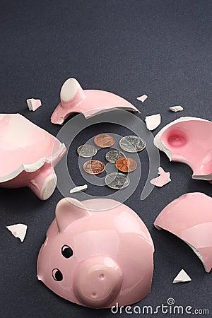 Free Broken Piggy Bank Business & Finance Concept Stock Photos - 7983623
