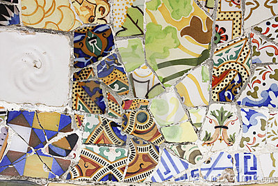Broken pottery, trencadia, Gaudi.