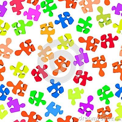 Broken puzzle pattern