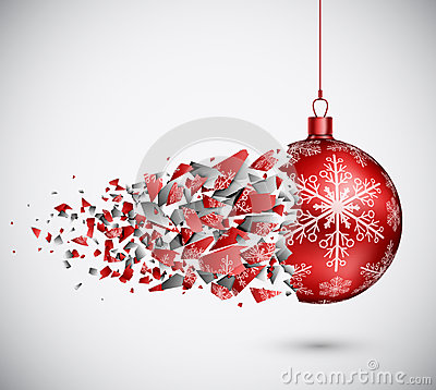 Free Broken Red Christmas Ball Stock Images - 27368094