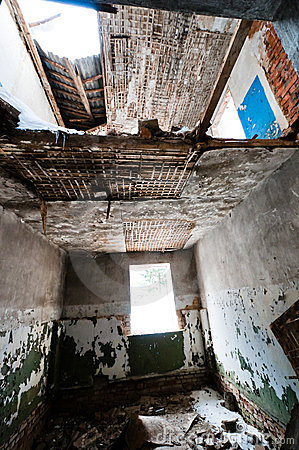 Broken room in abandoned house