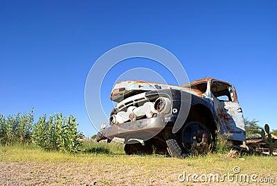 Broken Rusted Truck