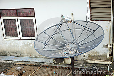 A broken satellit