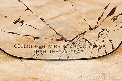 Broken sideview mirror