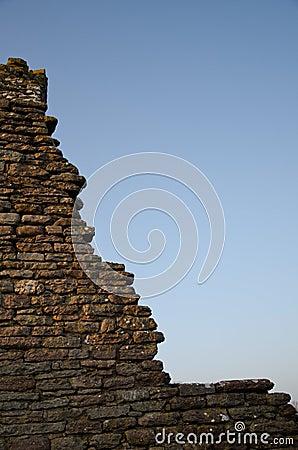 Broken stonewall