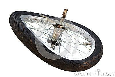 Broken tire