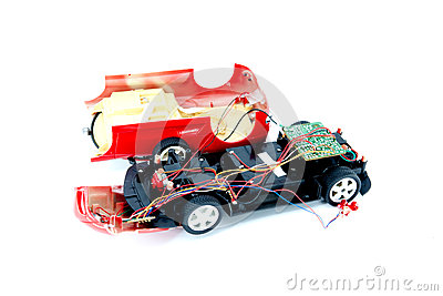 The Broken Toy Car Royalty Free Stock Images Image 32220369