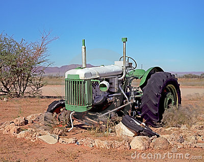 Broken Tractor Royalty Free Stock Image - Image: 22981836