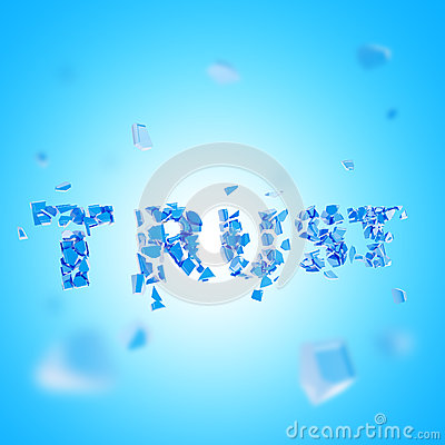 Broken trust abstract composition