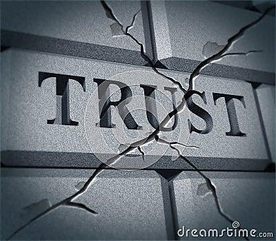 Broken trust symbol