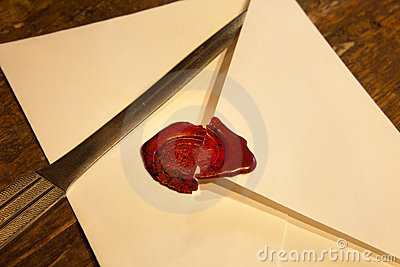 Broken wax seal