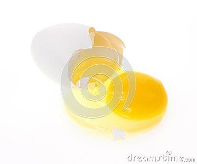 Broken white egg