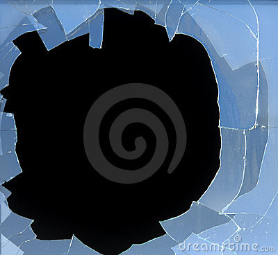 Free Broken Window Royalty Free Stock Photography - 1703777