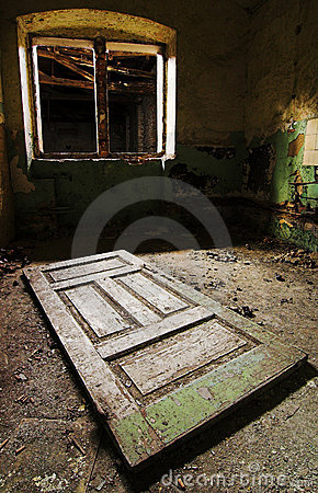Broken window and old door on the floor & Broken Window And Old Door On The Floor Stock Photography - Image ... Pezcame.Com