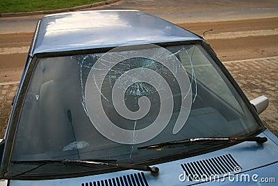 Broken window-pane