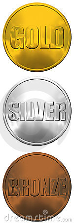 Bronce de la plata del oro de las medallas
