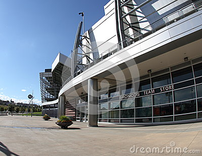 Broncos Team Store, Sports Authority stadium Editorial Stock Image