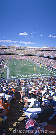 Broncos v. Rams at Mile High Stadium Editorial Stock Image