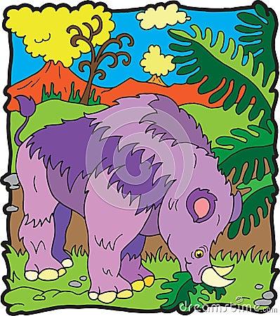 Brontoterio dinosaur