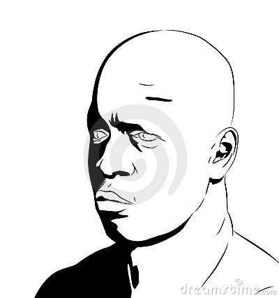 Bronz  Male Face Clipart