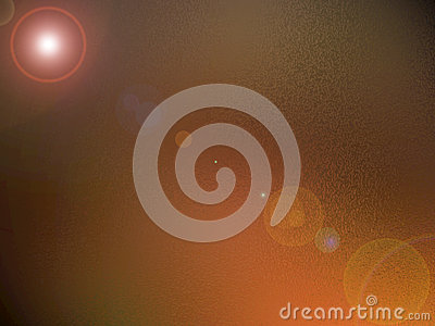 Bronze background with lens flare
