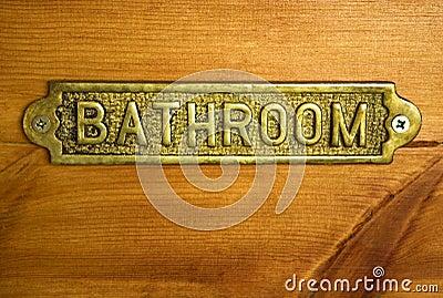 Bronze Bathroom Sign
