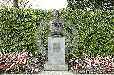 Bronze bust of Goethe