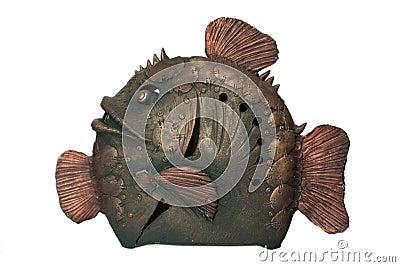 Bronze ceramics fish