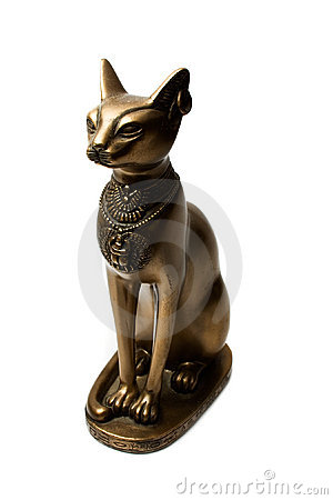 Free Bronze Figure Of The Egyptian Cat Stock Images - 3635494